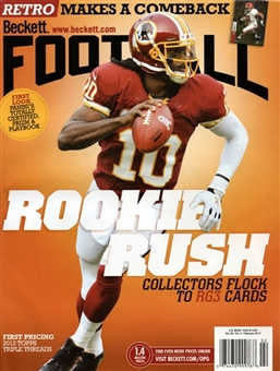 2013 Beckett Football Monthly Price Guide (#265 February) (RGIII)