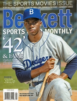 2013 Beckett Sports Card Monthly Price Guide (#338 May) (Jackie Robinson)