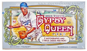 2013 Topps Gypsy Queen Baseball Hobby 10 Box Case - DACW Live 28 Spot Random Team Break