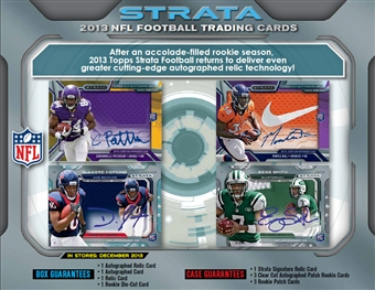 2013 Topps Strata Football Hobby Box (Presell)