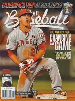 2013 Beckett Baseball Monthly Price Guide (#84 March) (Trout)