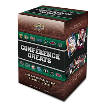 2014 Upper Deck SEC Conference Greats Football 10-Pack Box