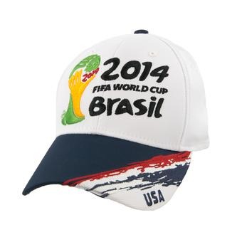 USA Soccer World Cup Adidas White Flex Fit Hat (Adult S/M)