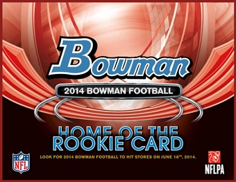 2014 Bowman Football Hobby 10-Box Case (due June)