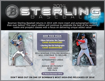 2014 Bowman Sterling Baseball Hobby Pack