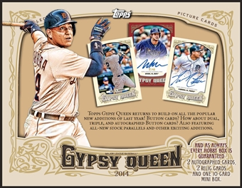 2014 Topps Gypsy Queen Baseball Hobby Box (Presell)