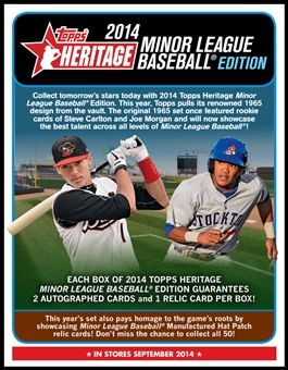 2014 Topps Heritage Minor League Baseball Hobby 12-Box Case (due September)