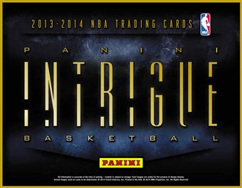 2013/14 Panini Intrigue Basketball Hobby 10-Box Case (Presell)
