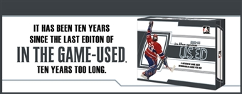 2013/14 In The Game Used Hockey Hobby 10-Box Case (Presell)