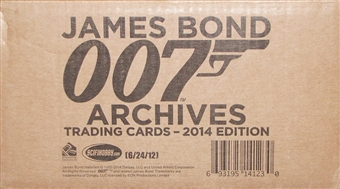 James Bond Archives Trading Cards 12-Box Case (Rittenhouse 2014)