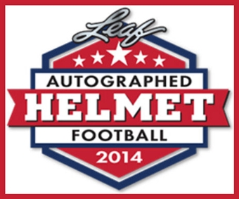 2014 Leaf Autographed Full-Size Helmet Football Hobby 3-Box Case (Presell)