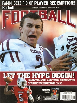2014 Beckett Football Monthly Price Guide (#281 June) (Johnny Manziel)