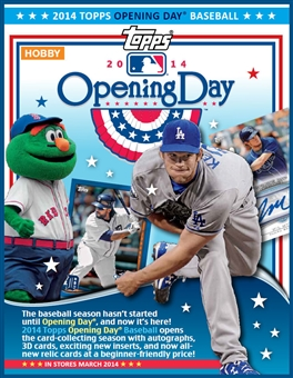 2014 Topps Opening Day Baseball 20-Box Case (due March)