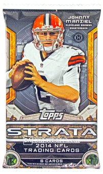 2014 Topps Strata Football Hobby Pack