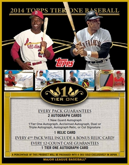 2014 Topps Tier One Baseball Hobby 12-Box Case (Presell)