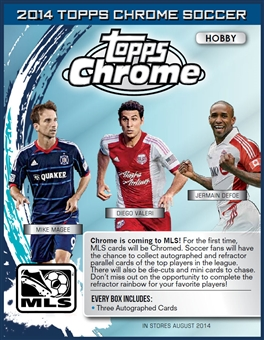 2014 Topps MLS Chrome Soccer Hobby Box (Presell)