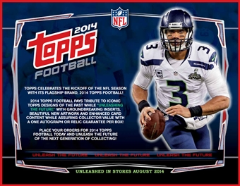 2014 Topps Football Jumbo 6-Box Case (Presell)