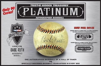 2014 TriStar Hidden Treasures Platinum Baseball Hobby Box