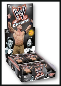 2014 Topps WWE Chrome Wrestling Hobby 8-Box Case (Presell)