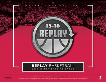 2015/16 Panini Replay Basketball Hobby Box (Presell)