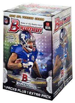 2015 Bowman Football 8-Pack Box (Lot of 5)