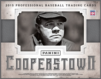 2015 Panini Cooperstown Baseball Hobby 15-Box Case (Presell)