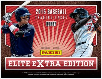 2015 Panini Elite Extra Edition Baseball Hobby Box
