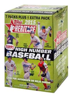 2015 Topps Heritage High Number Baseball 8-Pack Box