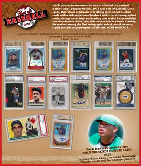 2015 Leaf Best Of Baseball Hobby Box (Presell)