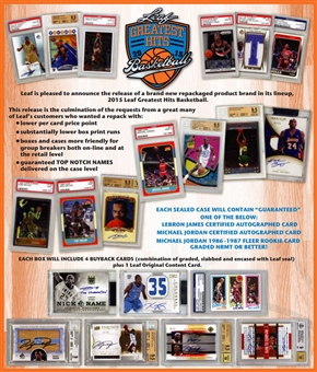 2015 Leaf Greatest Hits Basketball Hobby 2-Box Case -DACW Live 8 Spot Snake Draft #1
