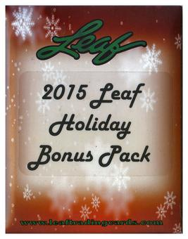 2015 Leaf Holiday Bonus Pack (10 Pack Lot)