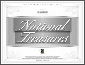 2015 Panini National Treasures Baseball Hobby 4-Box Case (Presell)