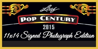 2015 Leaf Pop Century 11 x 14 Signed Photograph Edition Hobby 10-Box Case