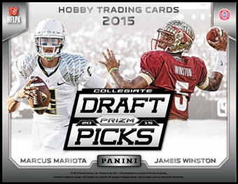 2015 Panini Prizm Collegiate Draft Picks Football Hobby Pack