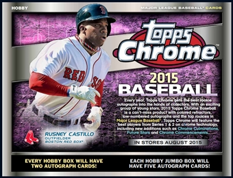 2015 Topps Chrome Baseball Hobby Box (Presell)