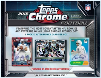 2015 Topps Chrome Football Hobby Box (Presell)