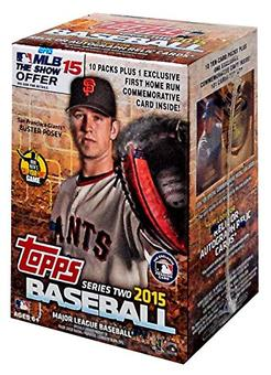 2015 Topps Series 2 Baseball 10-Pack Box (Lot of 5)