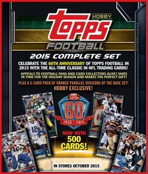 2015 Topps Factory Set Football Hobby (Box) Case (12 Sets) (Presell)
