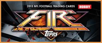 2015 Topps Fire Football Hobby Box (Presell)