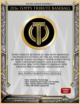 2016 Topps Tribute Baseball Hobby Pack