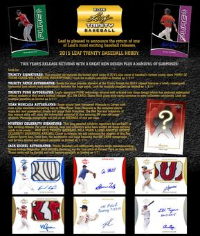 2015 Leaf Trinity Baseball Hobby 12-Box Case