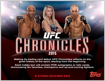 2015 Topps UFC Chronicles Hobby Box (Presell)