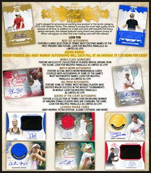 2015 Leaf Ultimate Tennis Hobby Box (Presell)