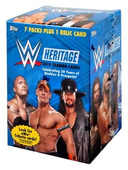 2015 Topps WWE Heritage Wrestling 8-Pack Box (One Relic Card Per Box!)