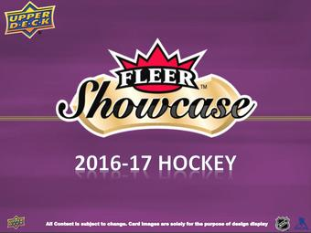 2016/17 Upper Deck Fleer Showcase Hockey Hobby Box (Presell)