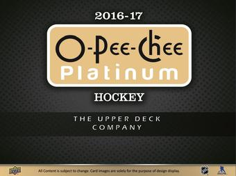 2016/17 Upper Deck O-Pee-Chee Platinum Hockey Hobby Box (Presell)