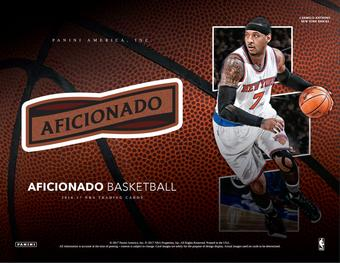 2016/17 Panini Aficionado Basketball Hobby Box (PLUS 2 Panini Day Packs!) (Presell)