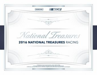2016 Panini National Treasures Racing Hobby 4-Box Case (Presell)