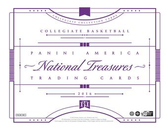 2016/17 Panini National Treasures Collegiate Basketball Hobby Box (Presell)