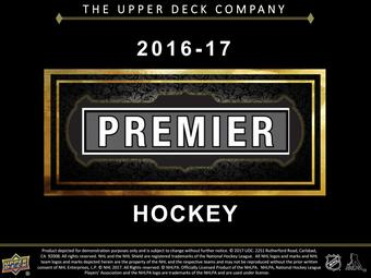 2016/17 Upper Deck Premier Hockey Hobby 5-Box Case (Presell)